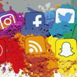Cores e tipografias oficiais das redes sociais